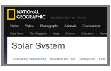 The Virtual Solar System-National Geographic